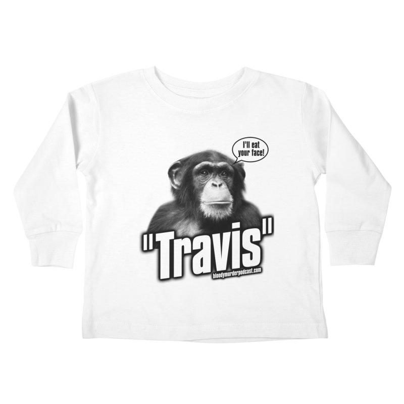Travis the Chimp Kids Toddler Longsleeve T-Shirt by bloodymurder's Artist Shop
