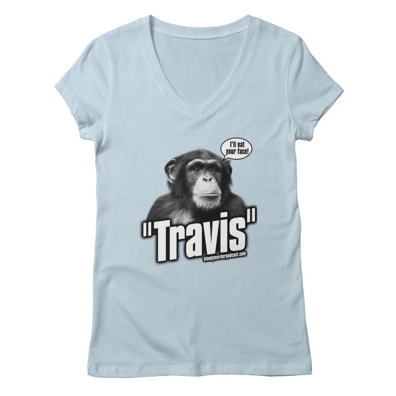 Travis the Chimp Women's V-Neck by bloodymurder's Artist Shop