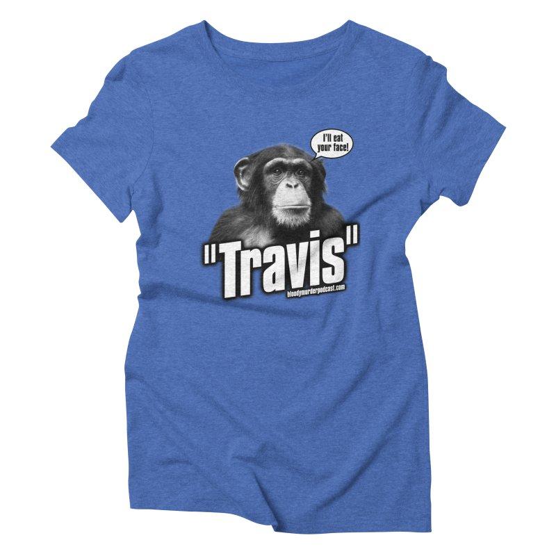 Travis the Chimp Women's Triblend T-shirt by bloodymurder's Artist Shop