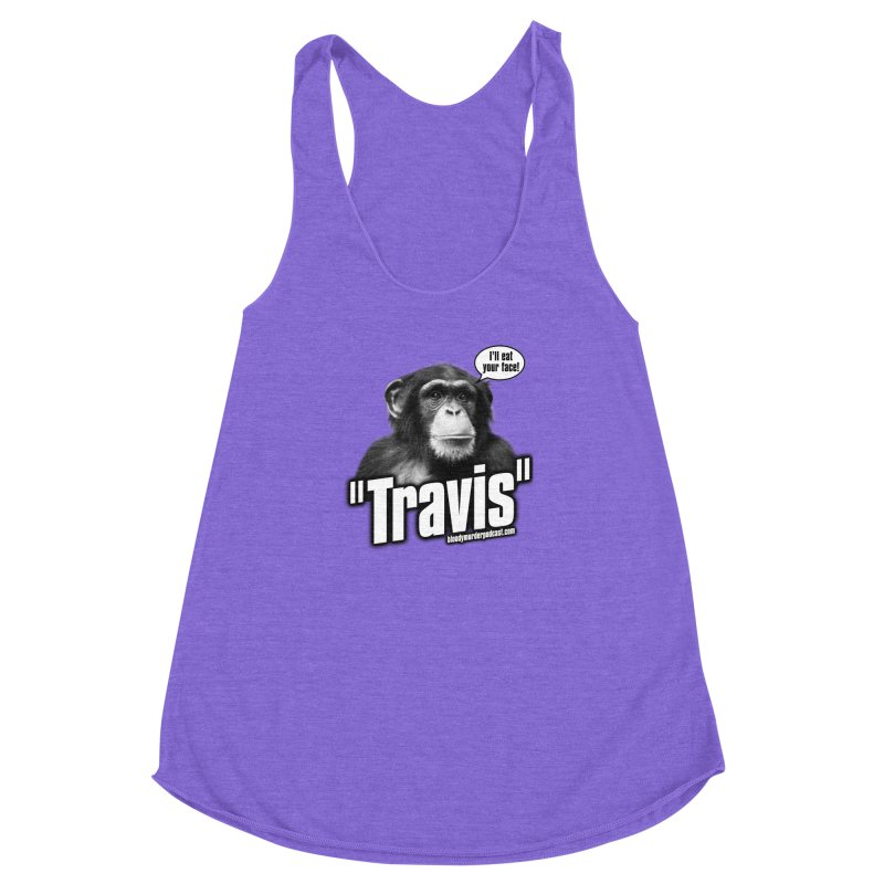 Travis the Chimp Women's Racerback Triblend Tank by bloodymurder's Artist Shop
