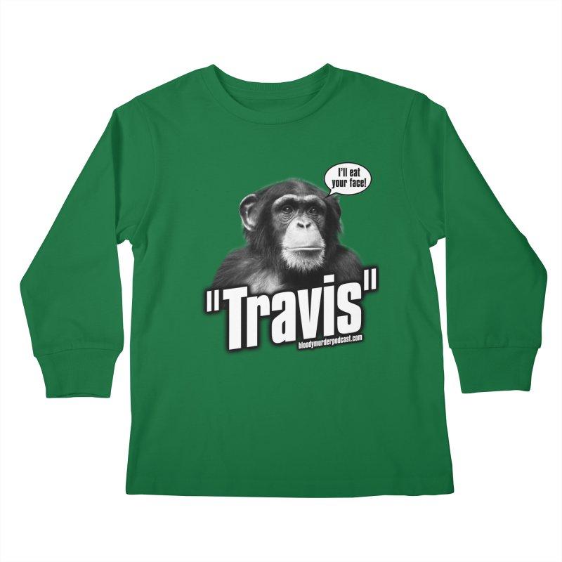 Travis the Chimp Kids Longsleeve T-Shirt by bloodymurder's Artist Shop