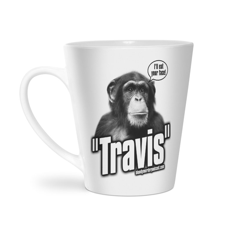 Travis the Chimp Accessories Latte Mug by Bloody Murder's Artist Shop