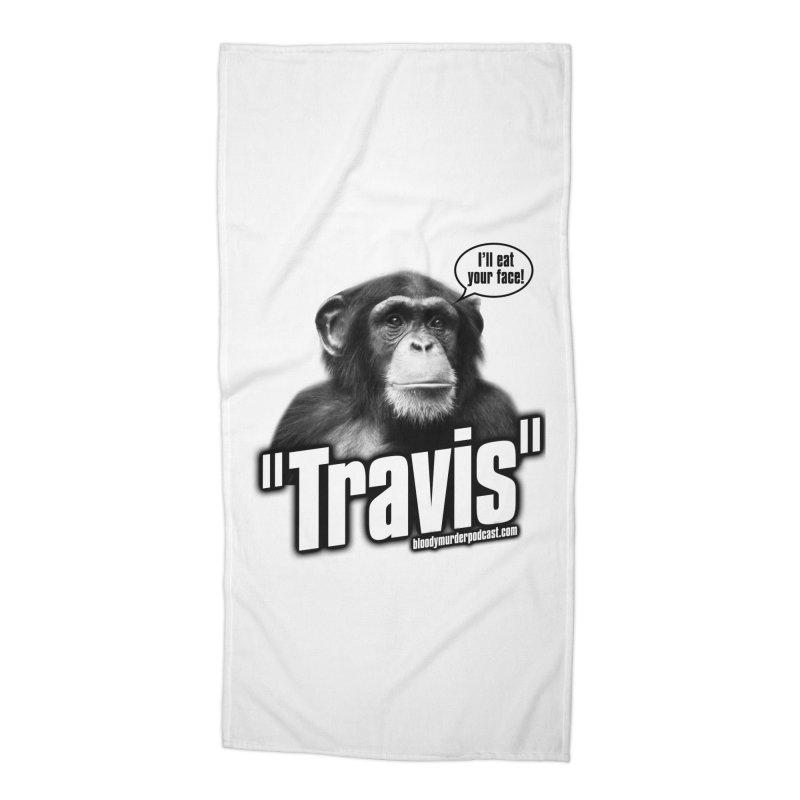 Travis the Chimp Accessories Beach Towel by bloodymurder's Artist Shop