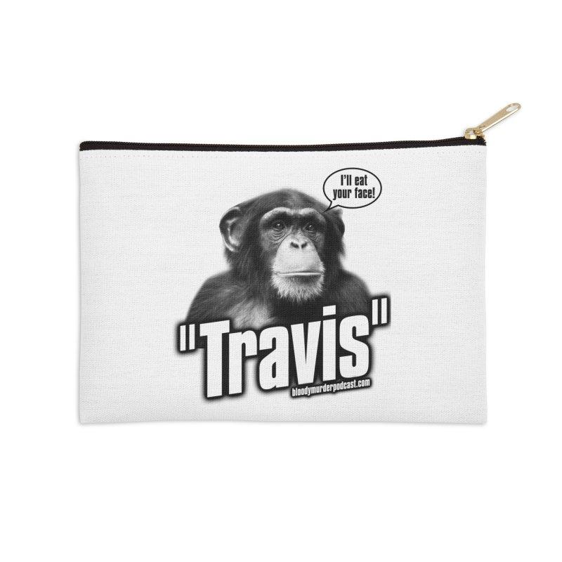 Travis the Chimp Accessories Zip Pouch by Bloody Murder's Artist Shop