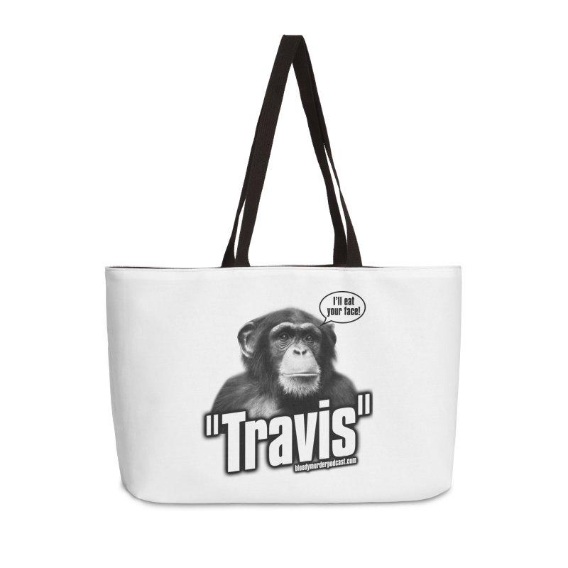 Travis the Chimp Accessories Weekender Bag Bag by Bloody Murder's Artist Shop