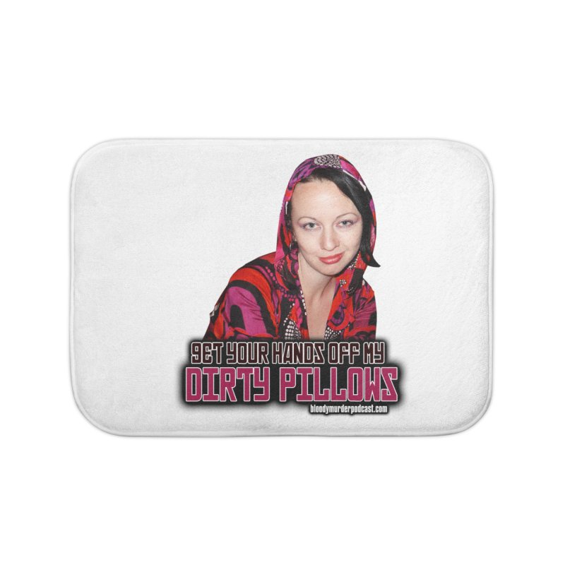 Dirty Pillows Home Bath Mat by Bloody Murder's Artist Shop