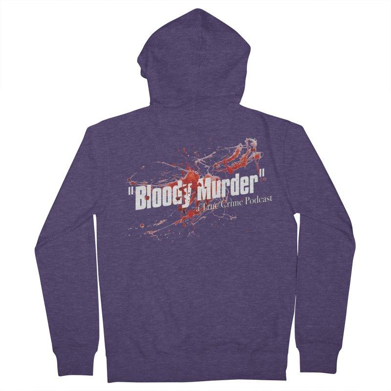 Bloody Murder Bleeding Logo White Men's Zip-Up Hoody by bloodymurder's Artist Shop