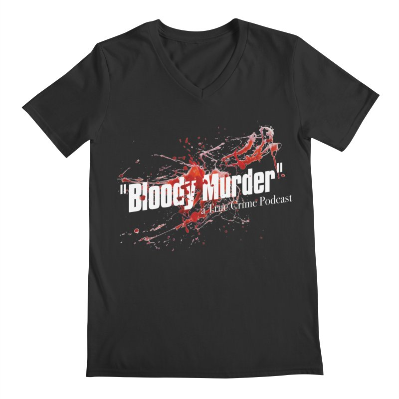 Bloody Murder Bleeding Logo White Men's V-Neck by bloodymurder's Artist Shop