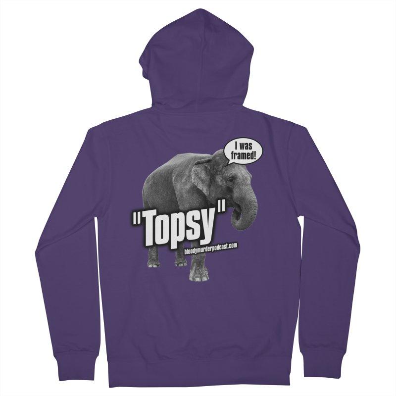 Topsy the Elephant Women's Zip-Up Hoody by bloodymurder's Artist Shop