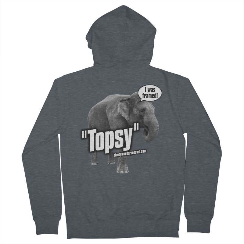 Topsy the Elephant Men's Zip-Up Hoody by bloodymurder's Artist Shop