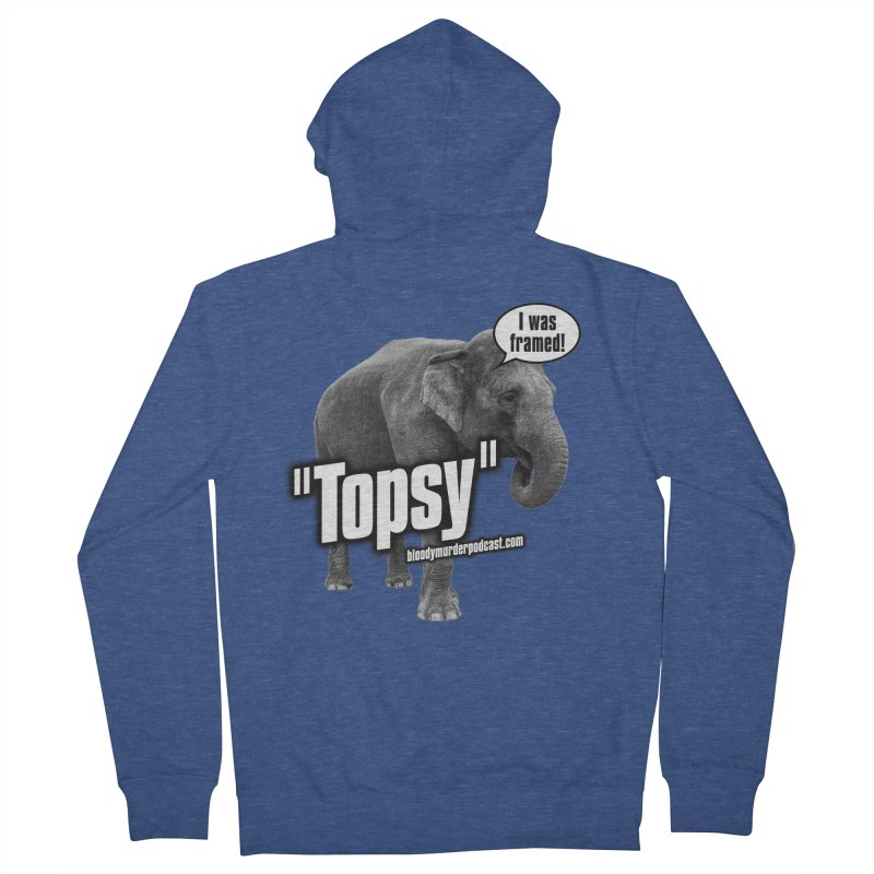 Topsy the Elephant Men's French Terry Zip-Up Hoody by Bloody Murder's Artist Shop