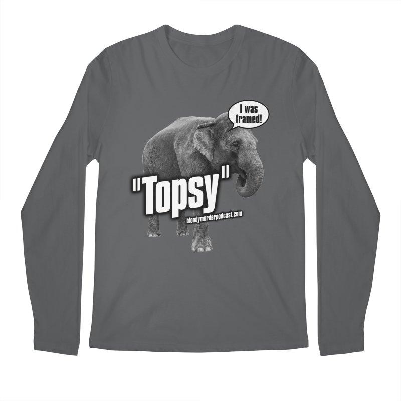 Topsy the Elephant Men's Regular Longsleeve T-Shirt by Bloody Murder's Artist Shop