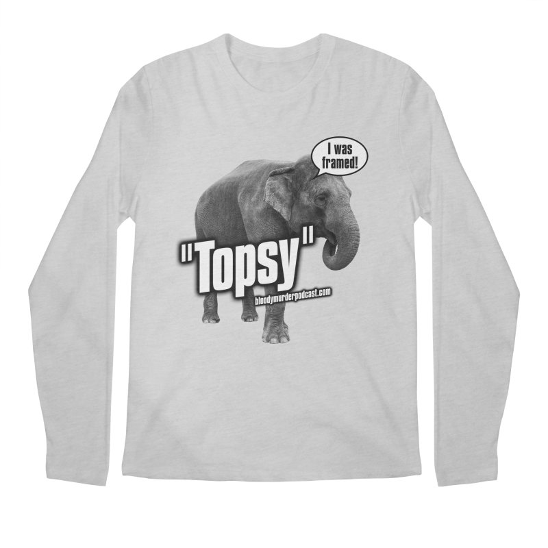 Topsy the Elephant Men's Longsleeve T-Shirt by bloodymurder's Artist Shop