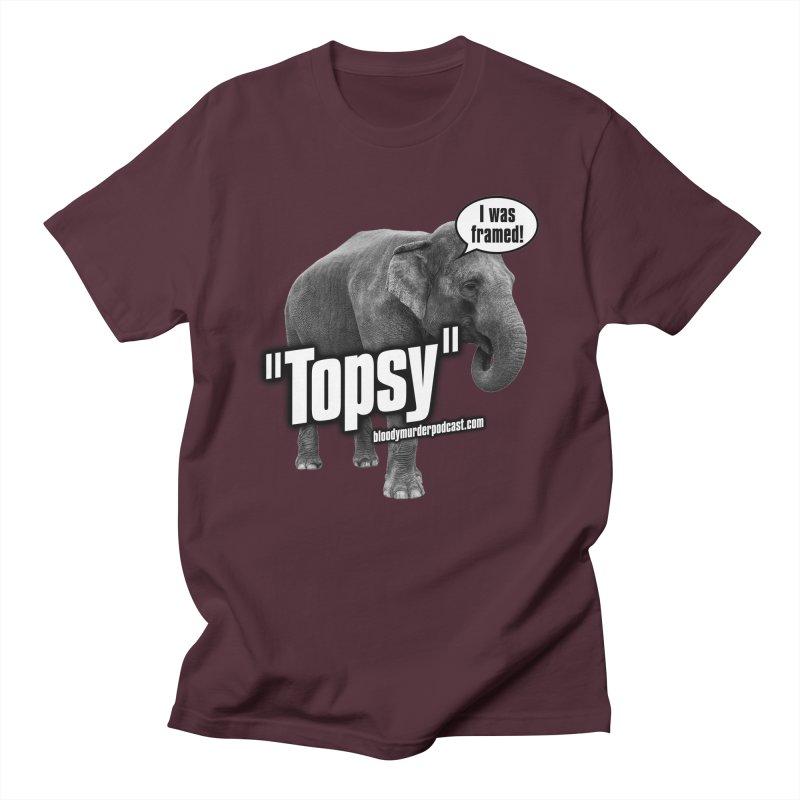 Topsy the Elephant Men's Regular T-Shirt by Bloody Murder's Artist Shop