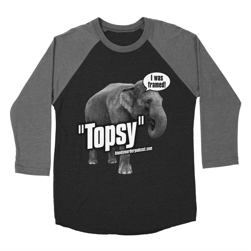 Topsy the Elephant Men's Baseball Triblend T-Shirt by bloodymurder's Artist Shop