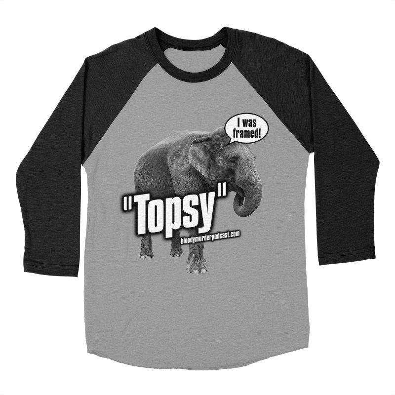 Topsy the Elephant Men's Baseball Triblend T-Shirt by bloodymurder's Artist Shop