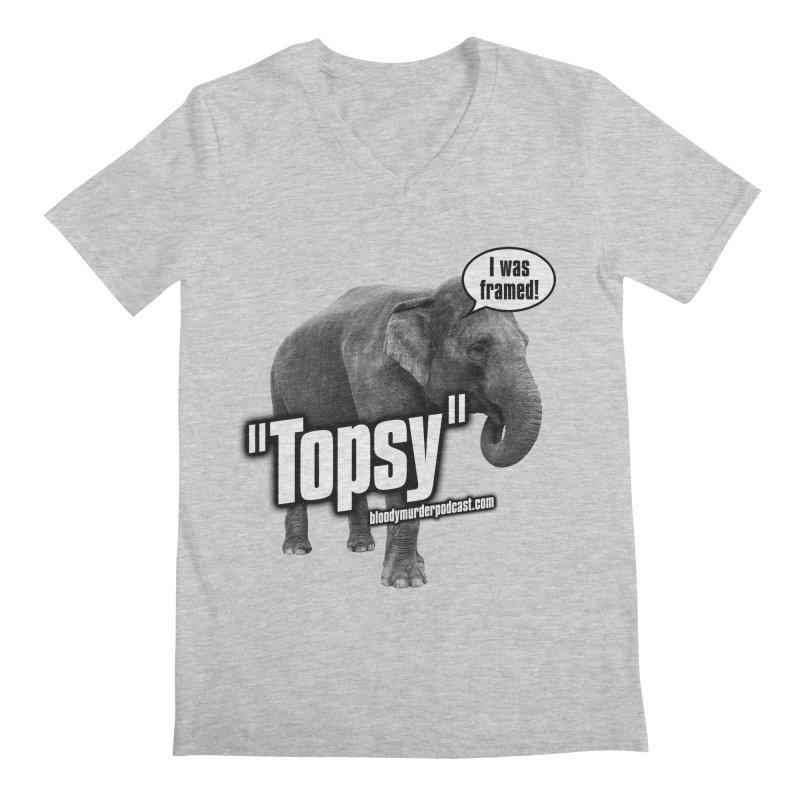 Topsy the Elephant Men's V-Neck by bloodymurder's Artist Shop