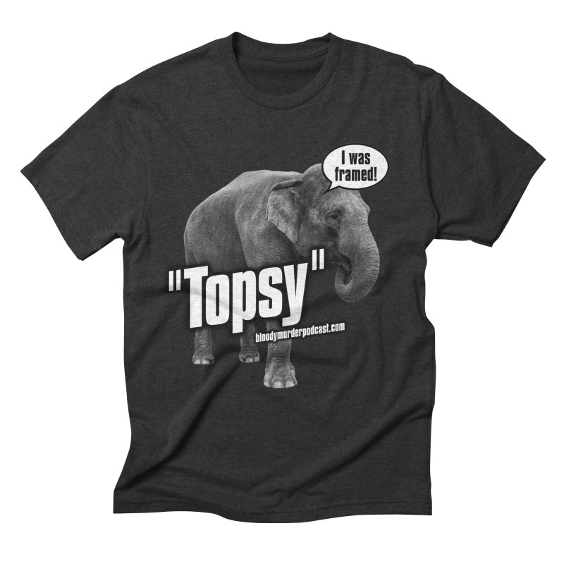Topsy the Elephant Men's Triblend T-shirt by bloodymurder's Artist Shop