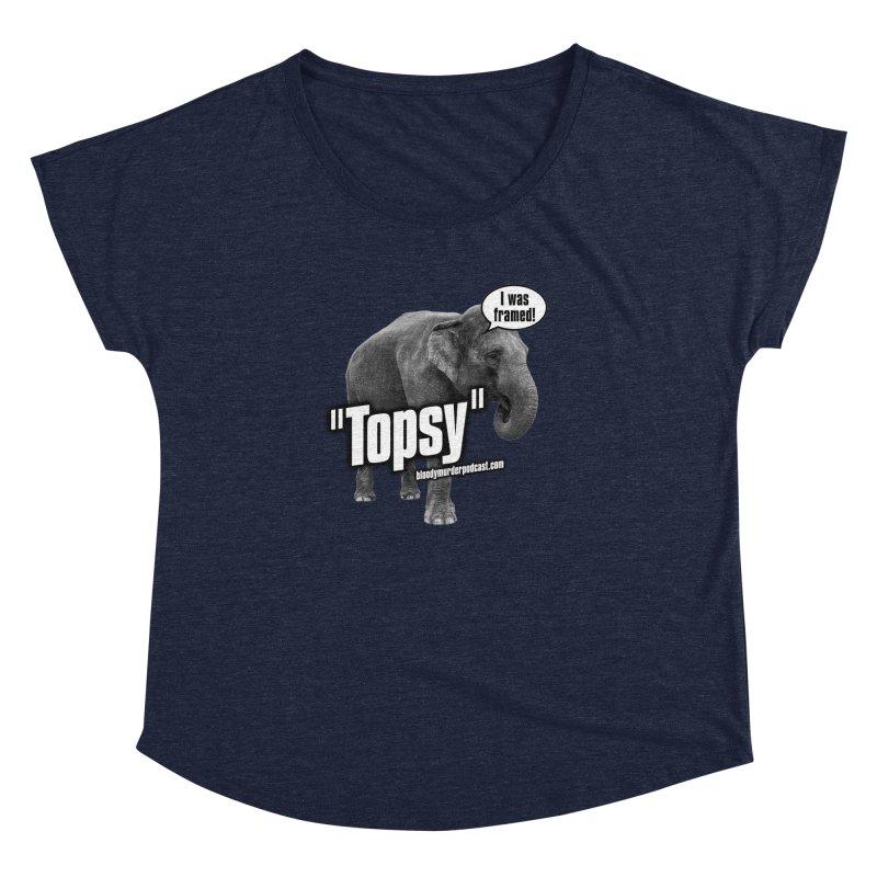 Topsy the Elephant Women's Dolman by bloodymurder's Artist Shop