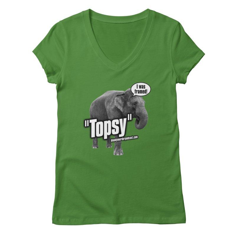 Topsy the Elephant Women's V-Neck by bloodymurder's Artist Shop
