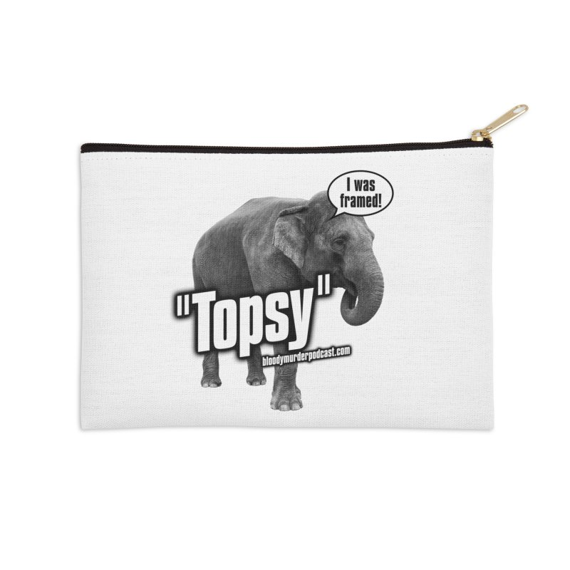 Topsy the Elephant Accessories Zip Pouch by Bloody Murder's Artist Shop