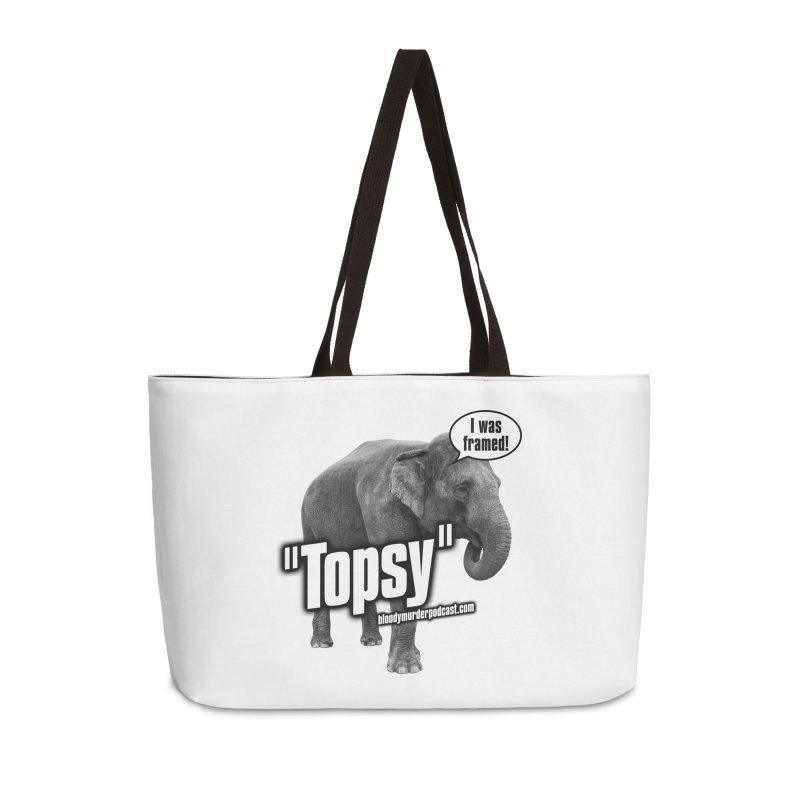 Topsy the Elephant Accessories Weekender Bag Bag by Bloody Murder's Artist Shop
