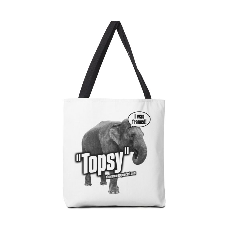 Topsy the Elephant Accessories Tote Bag Bag by Bloody Murder's Artist Shop