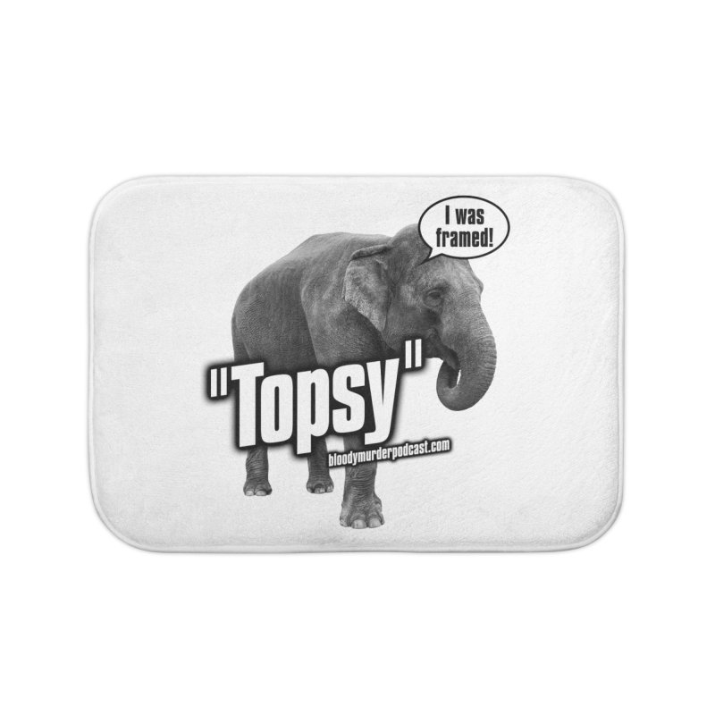 Topsy the Elephant Home Bath Mat by bloodymurder's Artist Shop