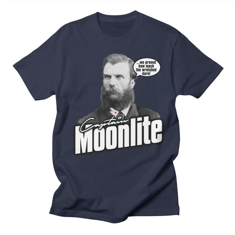 Captain Moonlite Men's Regular T-Shirt by Bloody Murder's Artist Shop