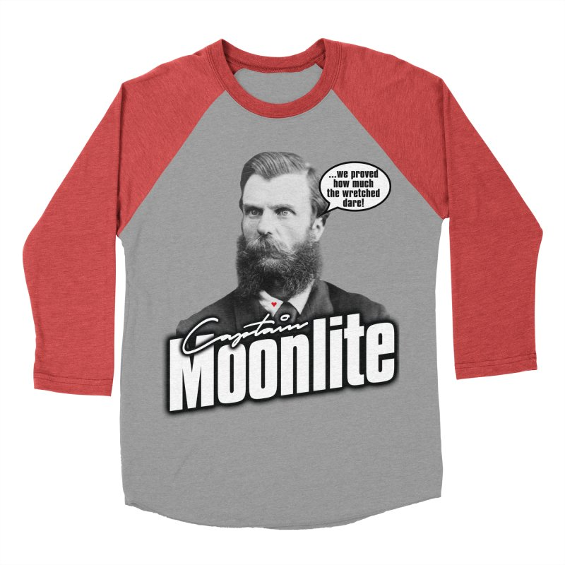 Captain Moonlite Women's Baseball Triblend Longsleeve T-Shirt by Bloody Murder's Artist Shop