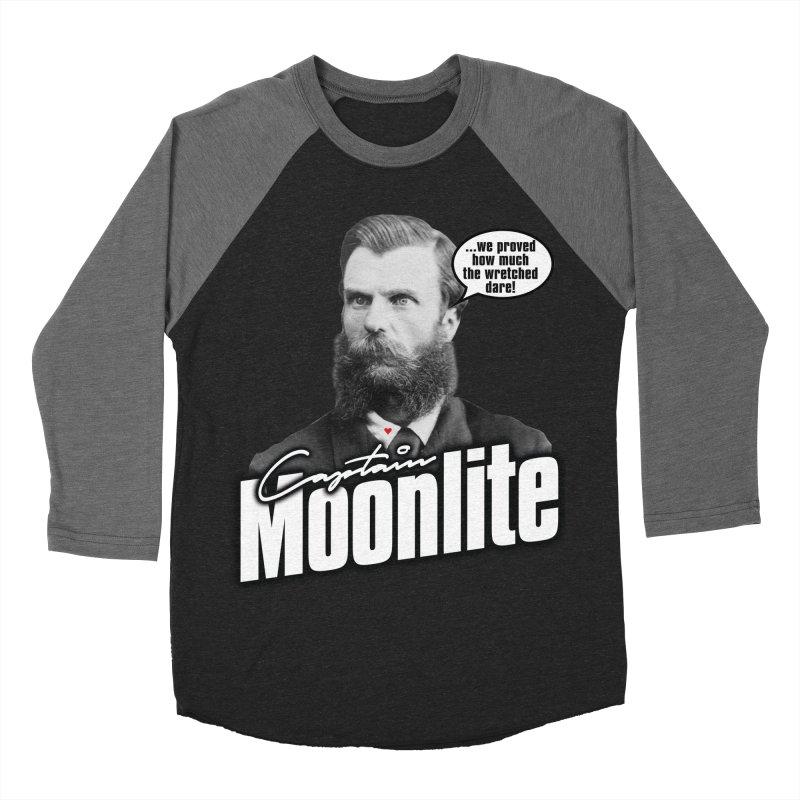 Captain Moonlite Women's Baseball Triblend Longsleeve T-Shirt by Bloody Murder's Artist Shop