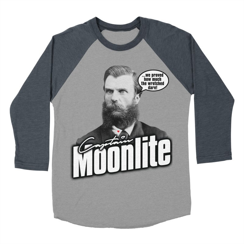 Captain Moonlite Men's Baseball Triblend Longsleeve T-Shirt by bloodymurder's Artist Shop