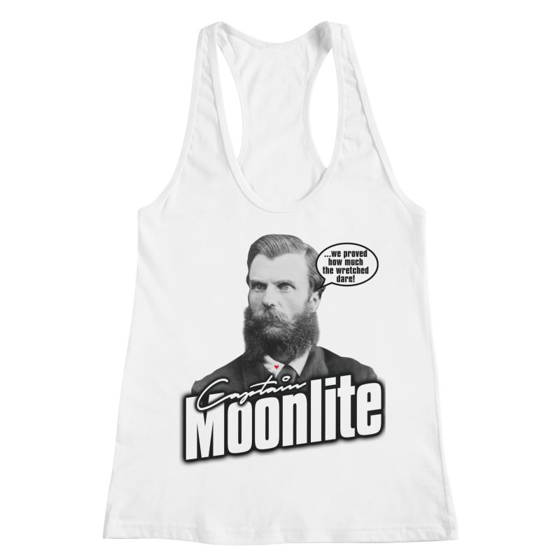 Captain Moonlite Women's Racerback Tank by Bloody Murder's Artist Shop