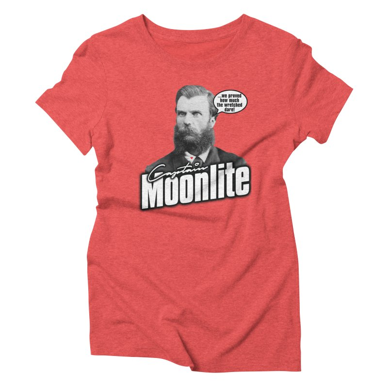Captain Moonlite Women's Triblend T-Shirt by bloodymurder's Artist Shop