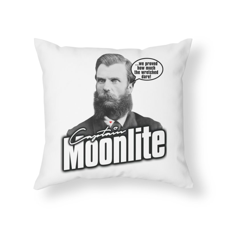 Captain Moonlite Home Throw Pillow by bloodymurder's Artist Shop