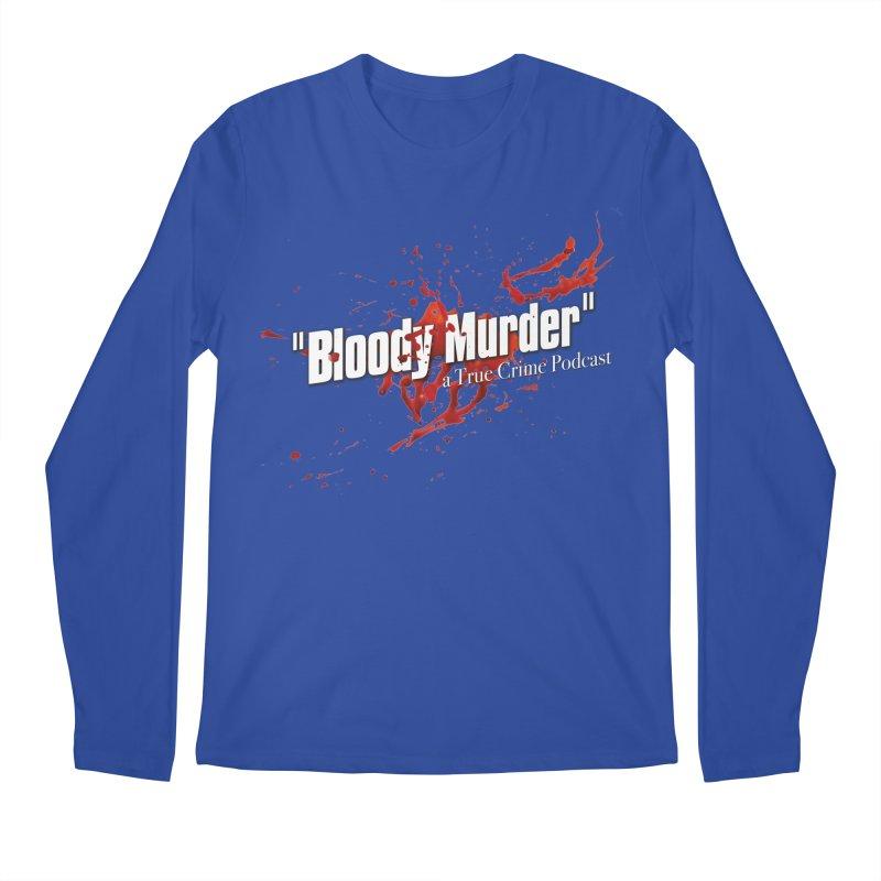 Bloody Murder Bleeding Logo White Men's Longsleeve T-Shirt by bloodymurder's Artist Shop