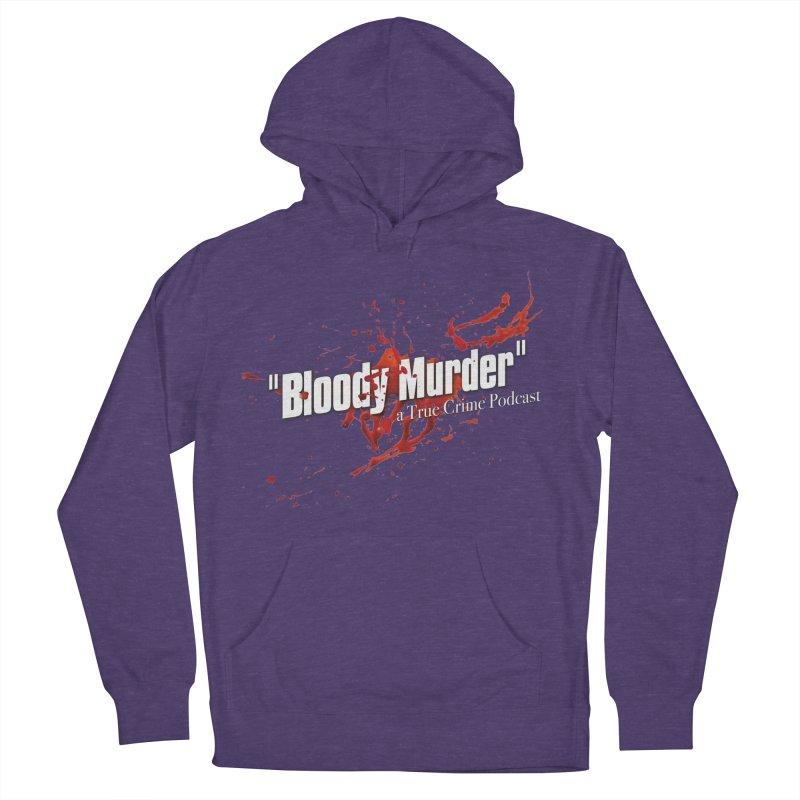 Bloody Murder Bleeding Logo White Men's French Terry Pullover Hoody by Bloody Murder's Artist Shop