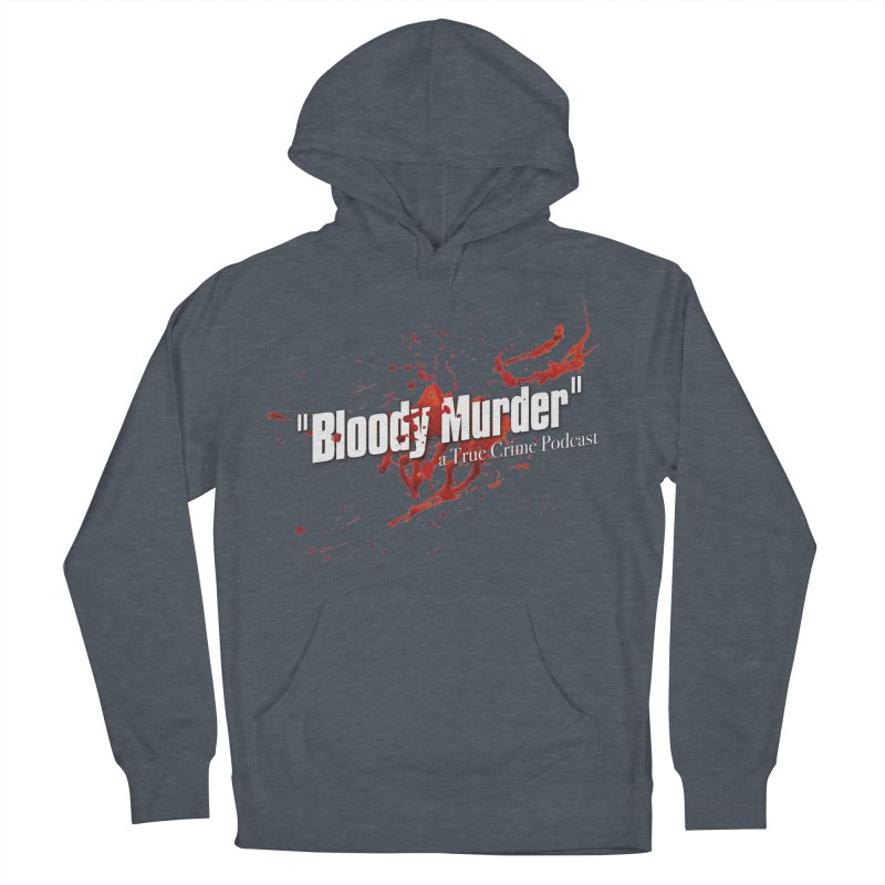 Bloody Murder Bleeding Logo White Men's Pullover Hoody by bloodymurder's Artist Shop
