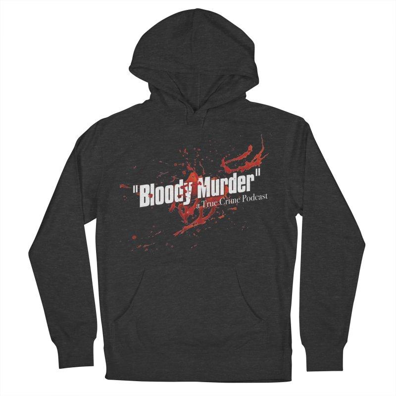 Bloody Murder Bleeding Logo White Men's French Terry Pullover Hoody by bloodymurder's Artist Shop