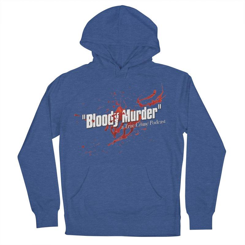 Bloody Murder Bleeding Logo White Men's Pullover Hoody by bloodymurder's Artist Shop