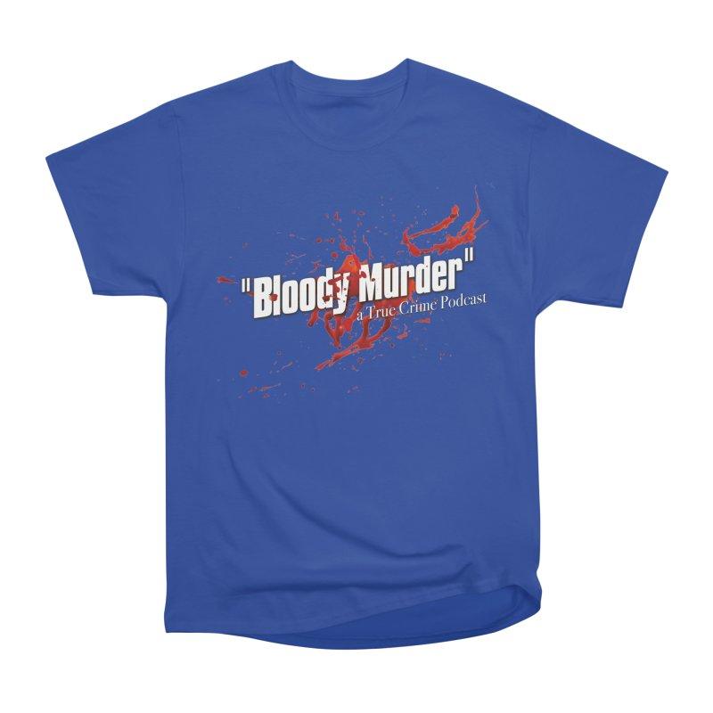 Bloody Murder Bleeding Logo White Men's Heavyweight T-Shirt by bloodymurder's Artist Shop