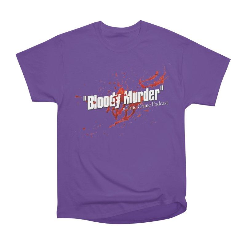 Bloody Murder Bleeding Logo White Men's Heavyweight T-Shirt by Bloody Murder's Artist Shop