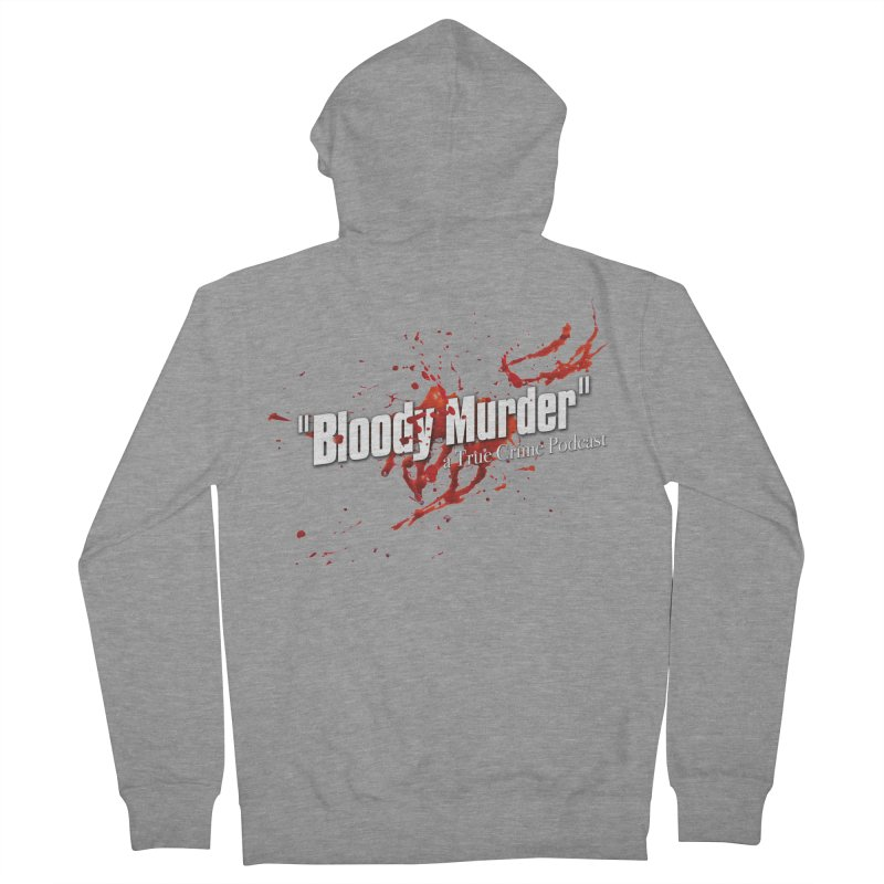 Bloody Murder Bleeding Logo White Women's Zip-Up Hoody by bloodymurder's Artist Shop