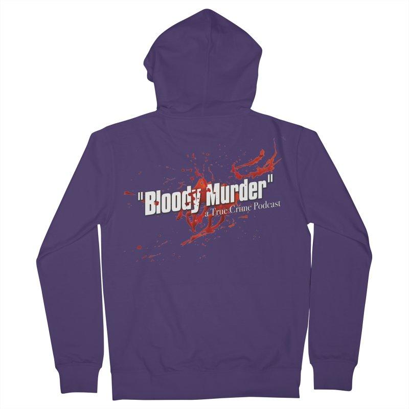 Bloody Murder Bleeding Logo White Women's Zip-Up Hoody by bloodymurder's Artist Shop