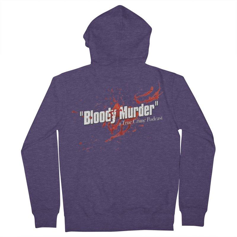 Bloody Murder Bleeding Logo White Men's French Terry Zip-Up Hoody by bloodymurder's Artist Shop