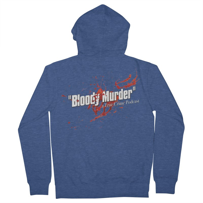 Bloody Murder Bleeding Logo White Men's Zip-Up Hoody by Bloody Murder's Artist Shop