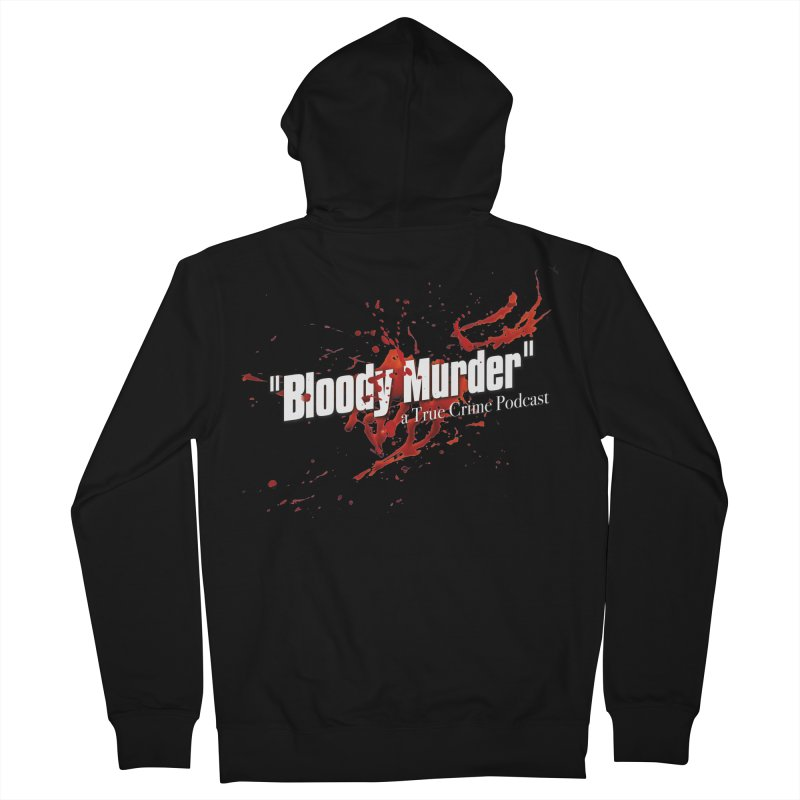 Bloody Murder Bleeding Logo White Men's French Terry Zip-Up Hoody by Bloody Murder's Artist Shop
