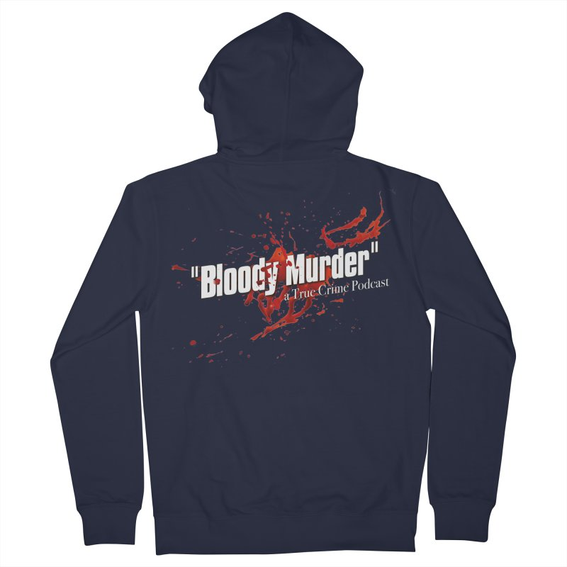 Bloody Murder Bleeding Logo White Men's Zip-Up Hoody by bloodymurder's Artist Shop