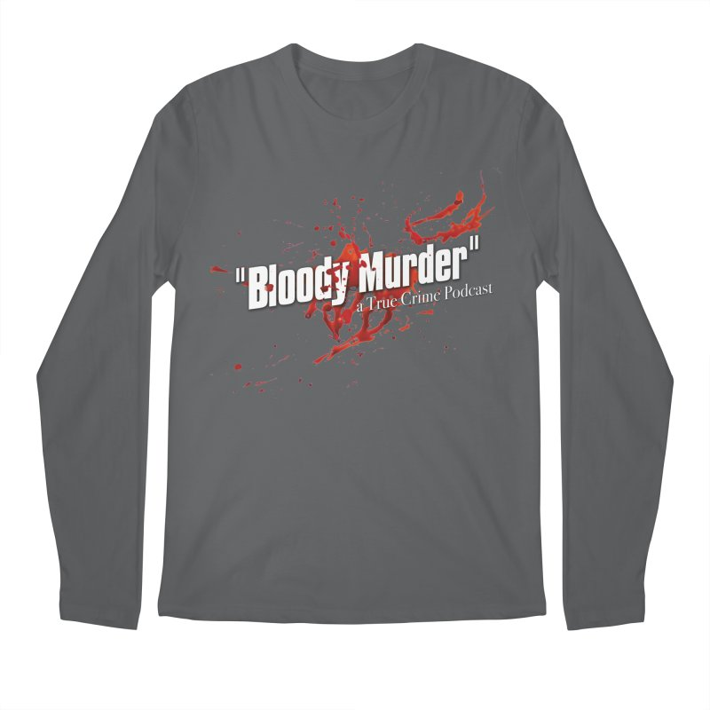 Bloody Murder Bleeding Logo White Men's Regular Longsleeve T-Shirt by bloodymurder's Artist Shop