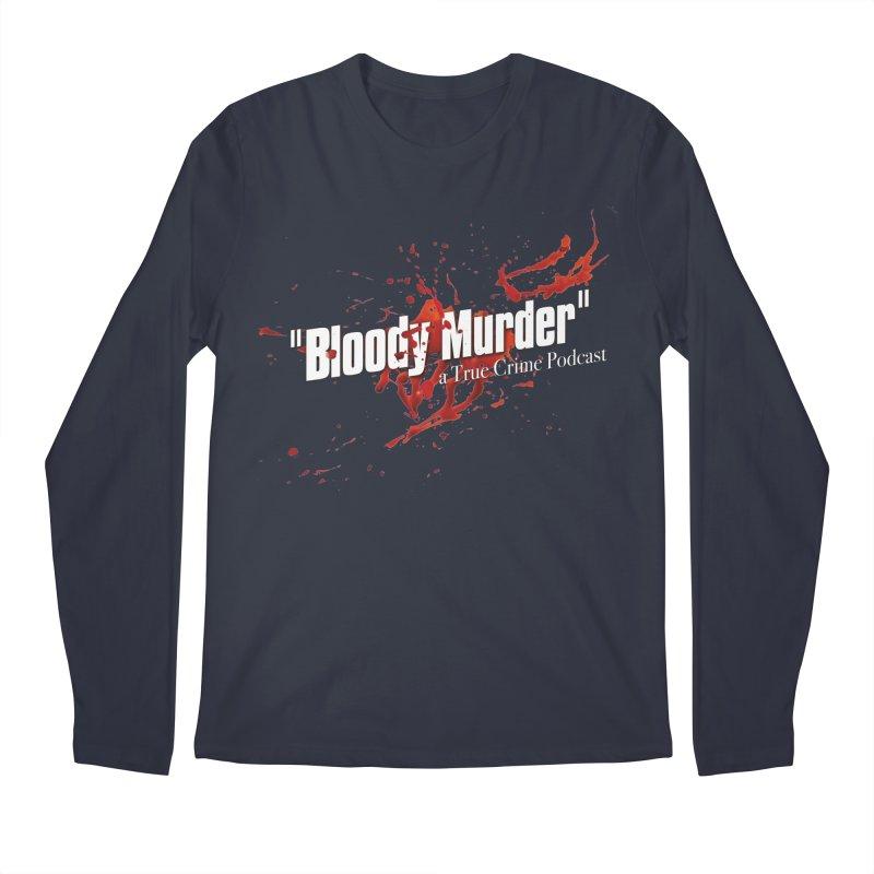Bloody Murder Bleeding Logo White Men's Regular Longsleeve T-Shirt by bloodymurder's Artist Shop